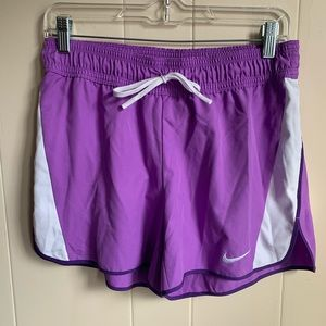 Nike Dri-Fit purple athletic track shorts size S